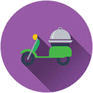 Botón de Pedidos de take away & delivery